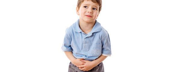Little boy with stomach pain